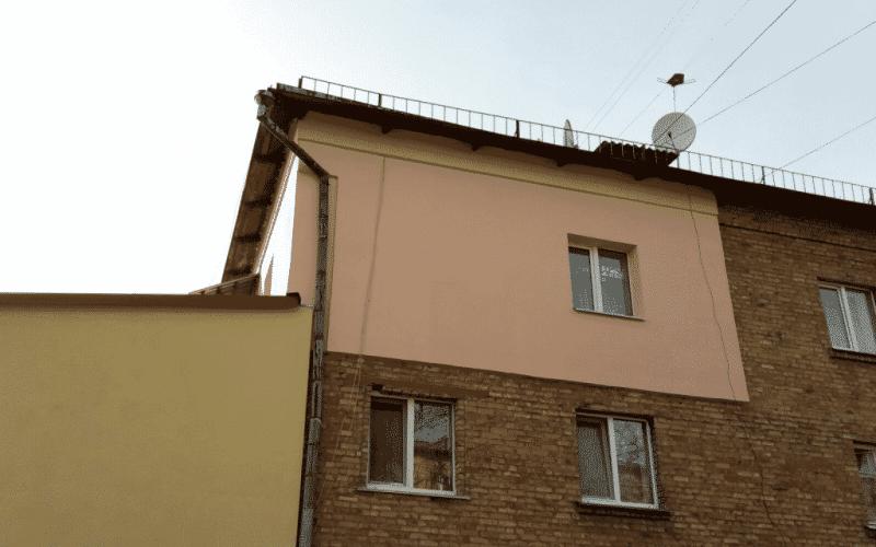 Утепление стен фасада в пгт. Коцюбинское