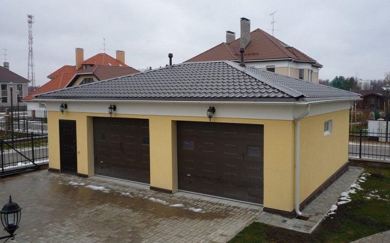 Утепление фасада гаража пенопластом