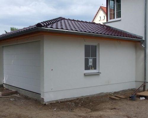 Утепленный фасада гаража
