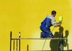 чем покрасить фасад из пенопласта
